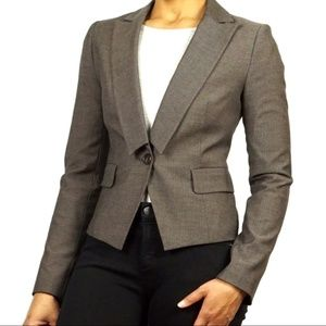 Sisley Striped Tailored Fit 1-Button Blazer